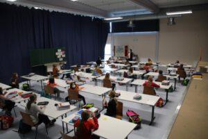 2021-02-23 Schule in der Werntalhalle