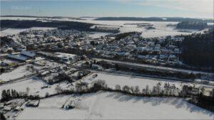 2021-02-14 16.06.32 Unser Ort aus der Vogelperspektive im Winter